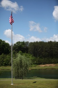 American Flag at Kefauver Park